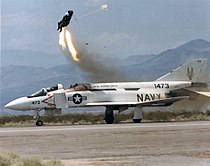 Ejection seart test from YF-4J Phantom at China Lake 1987.jpg