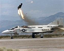 Ejection seart test from YF-4J Phantom at China Lake 1987.jpg