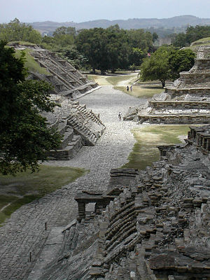 Classic Veracruz culture - View of the ceremonial centre of El Tajín, Veracruz (Mexico).