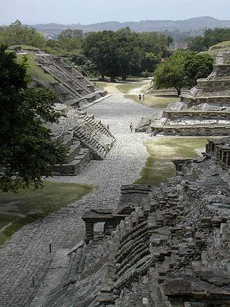Classic Veracruz culture - View of the ceremonial centre of El Tajín, Veracruz (Mexico).