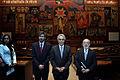 El presidente de la Asamblea Nacional, Fernando Cordero Cueva, recibió la visita de Diego García Sayán, Leonardo Franco y Pablo Saavedra, presidente, vicepresidente y secretario de la Corte (5187415845).jpg