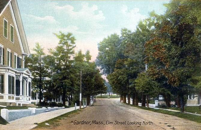 Elm Street Looking North, Gardner, MA