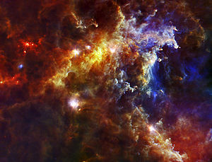 Herschel Space Observatory - Rosette Nebula image captured by Herschel