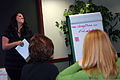 Emily Calloway, a youth coordinator at Fairchild Air Force Base, Wash., gives a presentation during advanced leadership training Dec. 8, 2011, at Headquarters Air Mobility Command (AMC), Scott Air Force Base 111208-F-OK556-226.jpg