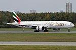 Emirates, A6-EBR, Boeing 777-31H ER (37009328503).jpg