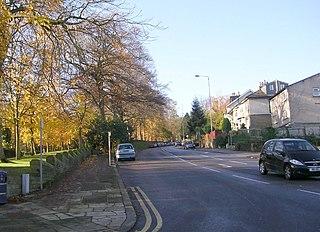 Frizinghall area in Bradford, West Yorkshire, UK