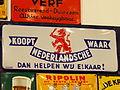 Enamel advert, Koopt Nederlandsche waar, dan helpen wij elkaar!.JPG