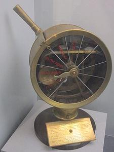 Engine telegraph from cargo steamer, Merseyside Maritime Museum.JPG