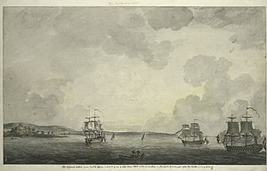 Culper Ring - British ships in New York Harbor following the British takeover of New York City in 1776