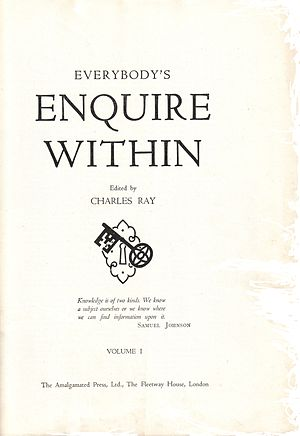 Everybody's Enquire Within - The title page of Everybody's Enquire Within
