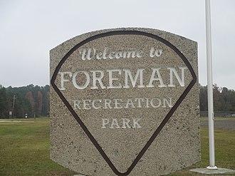Foreman, Arkansas - Sign at Foreman Recreation Park