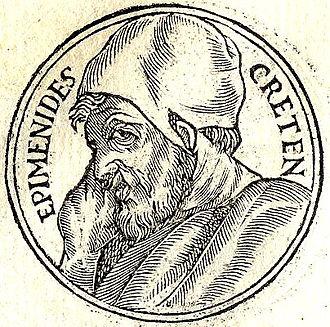 """Epimenides - Epimenides from """"Promptuarii Iconum Insigniorum"""""""