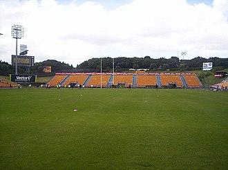 Mount Smart Stadium - The South Stand at Mt Smart Stadium, shot from the northern end of the stadium. Warriors Open Day, February 2005.