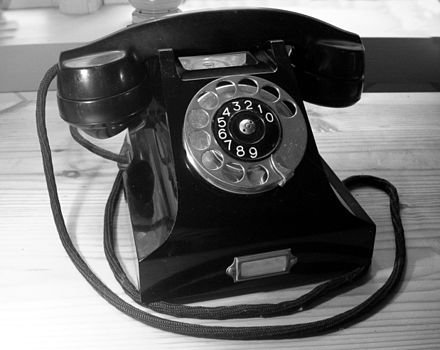 The Ericsson DBH1001 (1931) was the first combined telephone set with a housing and handset made from Bakelite. The design is attributed to Jean Heiberg. Ericsson bakelittelefon 1931 sv.jpg