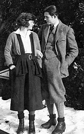 Photograph of Ernest Hemingway and Hadley Richardson Hemingway in Switzerland, 1922.
