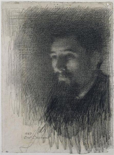 Ernest Laurent, Ritratto di George Seurat, 1883