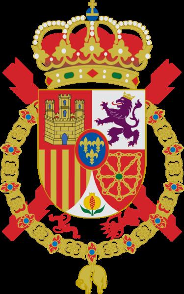 El Toisón de Oro en el escudo de la Casa Real Española