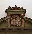 Escut carmelita a la portada de l'escala barroca, convent del Carme, València.JPG
