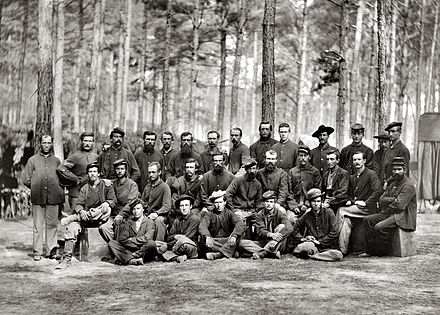 U.S. Engineer Battalion, during the Siege of Petersburg, August 1864 Essayons Dramatic Club - Siege of Petersburg.jpg
