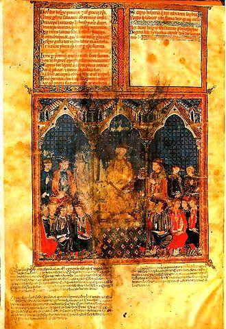 Estoria de España - Manuscript of the Estoria de España of Alfonso X el Sabio.