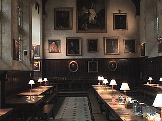 Exeter College, Oxford - Dining hall