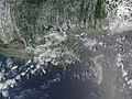 Explosion, Leak at Gulf of Mexico Oil Well 2010-05-11 lrg.jpg