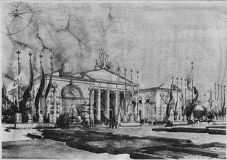 Piero Portaluppi - Padiglione italiano all'esposizione di Barcellona del 1929