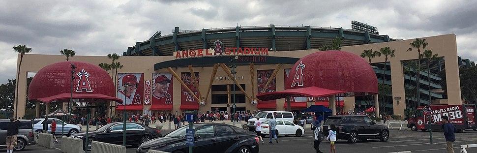 Exterior of Angel Stadium, Anaheim, 2017