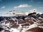 F-4S Phantom II of VF-74 in flight over Nevada 1982.jpg