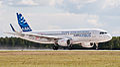 F-WWIQ Airbus A320 sharklet ILA 2012 07.jpg