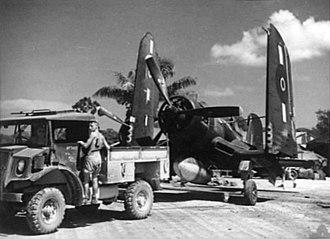 No. 16 Squadron RNZAF - Image: F4U 16 Sqn RNZAF on Green Island 1944