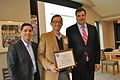 FCC Chairman Julius Genachowsku, Knight's Damian Thorman and Curtis Chang - Flickr - Knight Foundation.jpg
