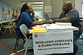 FEMA - 32249 - FEMA Mitigation specialist and a resident talking in an Ohio DRC.jpg