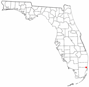 Carol City, Florida - Image: FL Map doton Carol City