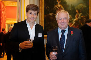 Chris Patten - Patten (right) with Leo, brother of Boris Johnson, 2011