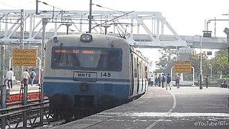 Secunderabad Junction railway station - MMTS train Arriving It platform 10