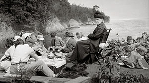 Basswood Island - A family gathering on Basswood Island in 1916