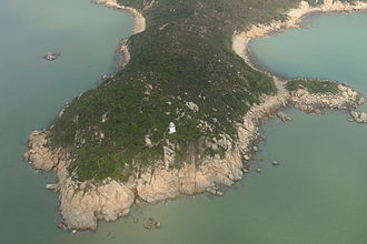 Fan Lau - Close-up of Fan Lau Kok and lighthouse