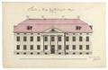 Fasadritning på hovrätten i Vasa, 1784-1788 - Skoklosters slott - 99011.tif