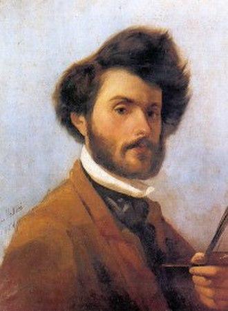 Giovanni Fattori - self-portrait (1854), oil on canvas, 59 x 46.5 cm, Florence, Galleria d'Arte Moderna