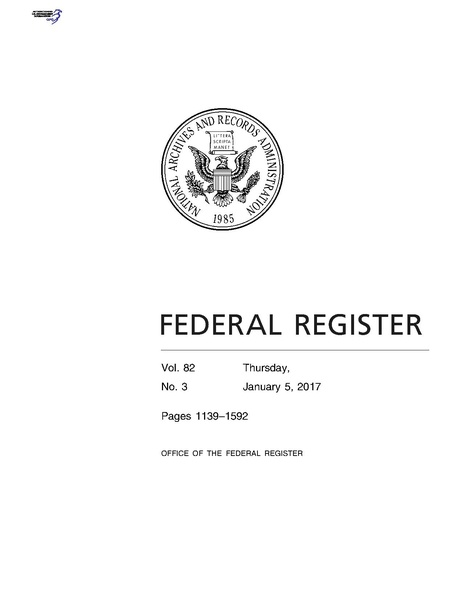 File:Federal Register - Vol. 82, No. 3 - Thursday, January 5, 2017.pdf