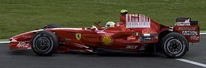 2008 French Grand Prix - The race was won by Felipe Massa for Ferrari, moving him into the lead of the Drivers' Championship for the first time in his career.