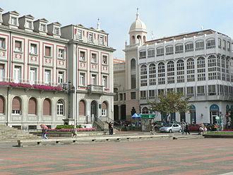 Ferrol, Spain - The centre of Ferrol