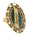 Fingerring av guld med emalj, 1798 - Hallwylska museet - 110230.tif
