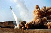 Firing Zelzal 3 missile