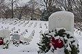 First snowfall of 2015 at Arlington National Cemetery (16030189007).jpg