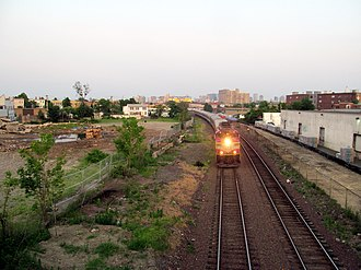 Union Square (Somerville) - Site of the future Green Line station in July 2015