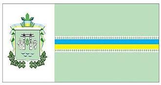Berehomet - Image: Flag of Vyzhnytsya Raion