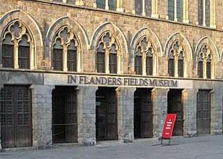 In Flanders Fields Museum World War I Military Museum named for the famous poem by Canadian John McCrae. in West Flanders, Belgium