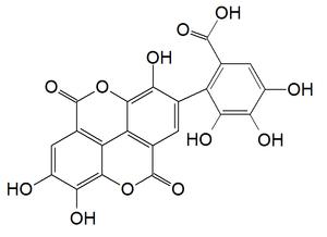 Flavogallonic acid dilactone - Image: Flavogallonic acid dilactone